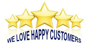 We Love Happy Customers