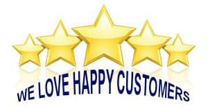 We Love Happy Customers